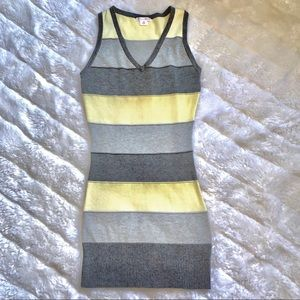 Colorblock Bodycon Ribbed Tank Dress